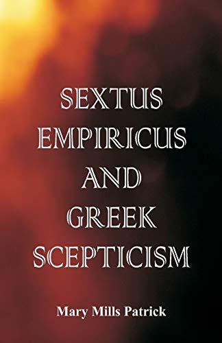 9789386874078: Sextus Empiricus and Greek Scepticism