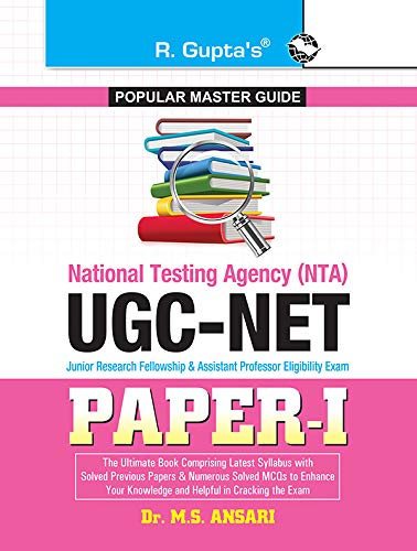 UGC-NET (Paper-I) Exam Guide: with Previous Years': Dr. M S