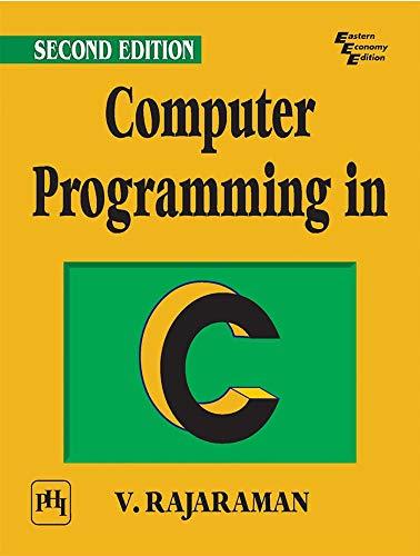 Computer Programming in C (Paperback): V. Rajaraman