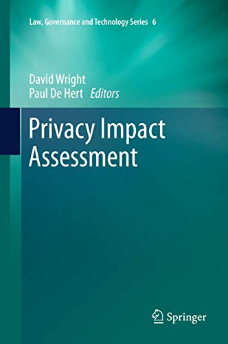 9789400725423: Privacy Impact Assessment (Law, Governance and Technology Series, Vol. 6)