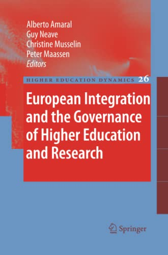 9789400730571: European Integration and the Governance of Higher Education and Research (Higher Education Dynamics)