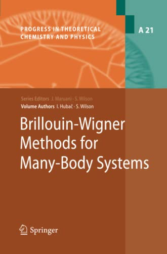 Brillouin-Wigner Methods for Many-Body Systems Progress in Theoretical Chemistry and Physics Volume...