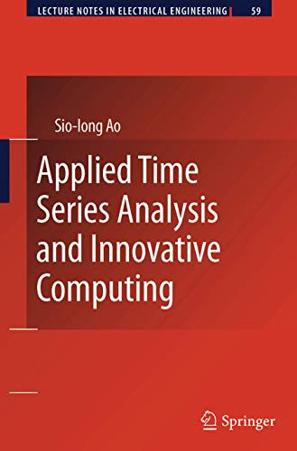 9789400732025: Applied Time Series Analysis and Innovative Computing (Lecture Notes in Electrical Engineering)