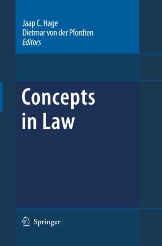 9789400736740: Concepts in Law (Law and Philosophy Library)