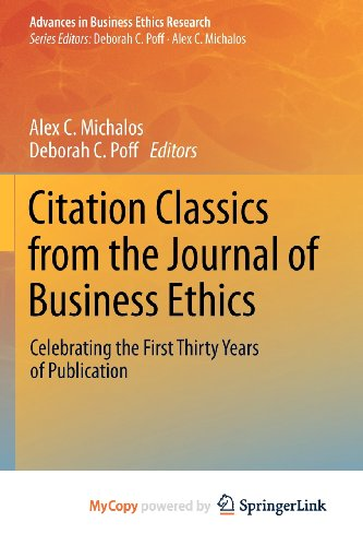 9789400741270: Citation Classics from the Journal of Business Ethics