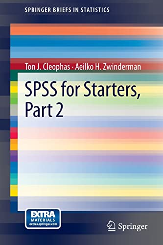 9789400748033: SPSS for Starters, Part 2 (SpringerBriefs in Statistics)