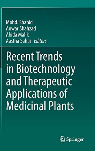 9789400766020: Recent Trends in Biotechnology and Therapeutic Applications of Medicinal Plants