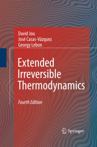 9789400791213: Extended Irreversible Thermodynamics