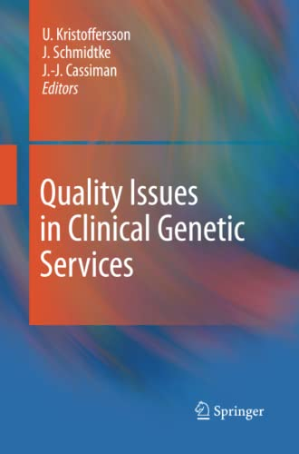 9789400791886: Quality Issues in Clinical Genetic Services