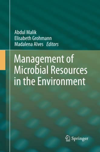 9789400793385: Management of Microbial Resources in the Environment