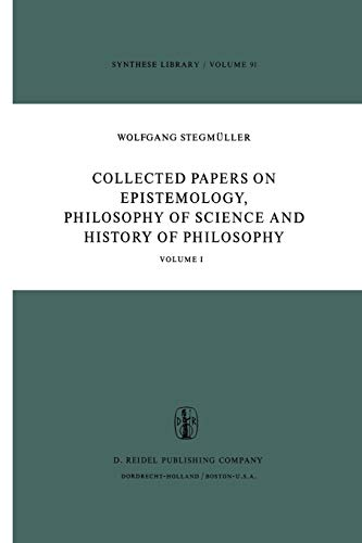 9789401011310: Collected Papers on Epistemology, Philosophy of Science and History of Philosophy: Volume I (Synthese Library) (Volume 1)