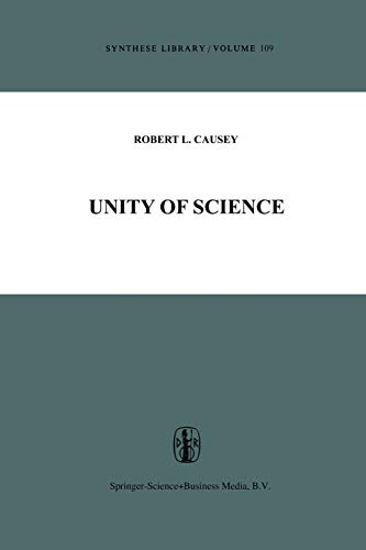 9789401011907: Unity of Science (Synthese Library)