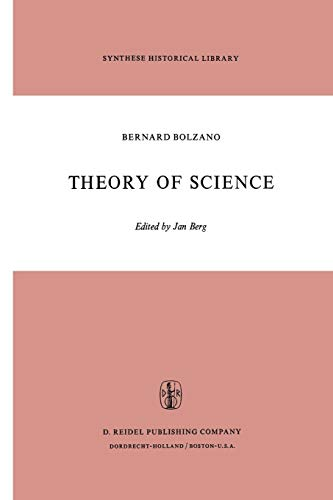 9789401025157: Theory of Science: A Selection, with an Introduction (Synthese Historical Library)