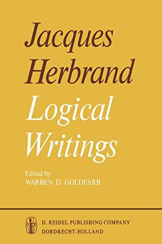 9789401030748: Logical Writings