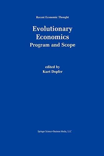 9789401038690: Evolutionary Economics: Program and Scope (Recent Economic Thought)