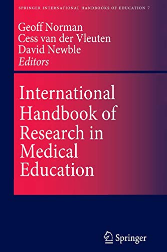 9789401039048: International Handbook of Research in Medical Education (Springer International Handbooks of Education)