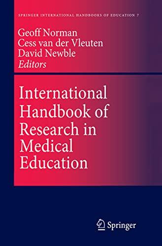 9789401039048: International Handbook of Research in Medical Education (Springer International Handbooks of Education)
