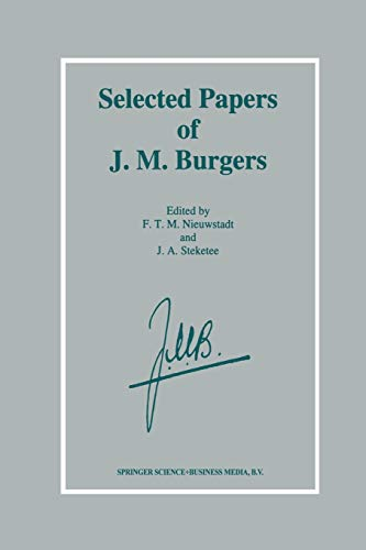 9789401040884: Selected Papers of J. M. Burgers
