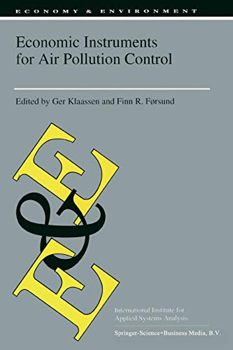 Economic Instruments for Air Pollution Control (Economy & Environment): Springer
