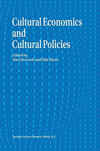 9789401044998: Cultural Economics And Cultural Policies