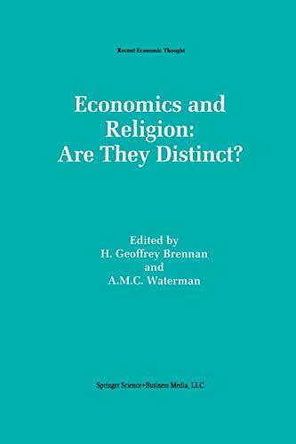 9789401046060: Economics And Religion: Are They Distinct? (Recent Economic Thought)