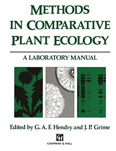 9789401046558: Methods in Comparative Plant Ecology: A laboratory manual