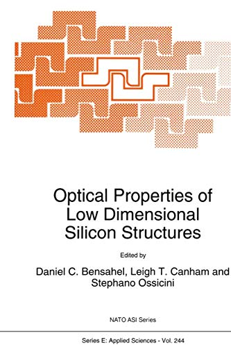 9789401049276: Optical Properties of Low Dimensional Silicon Structures (Nato Science Series E:)