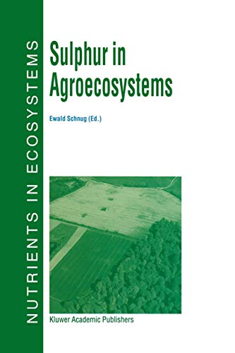 9789401061421: Sulphur in Agroecosystems (Nutrients in Ecosystems)