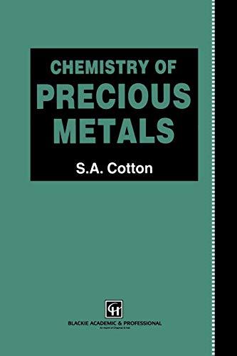 9789401071543: Chemistry of Precious Metals