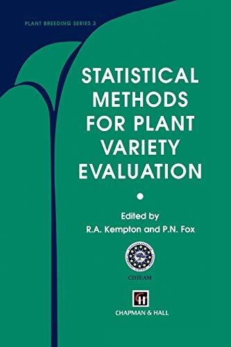 9789401071727: Statistical Methods for Plant Variety Evaluation (Plant Breeding)