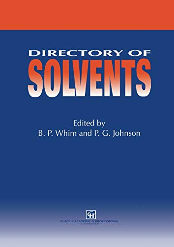 9789401071918: Directory of Solvents