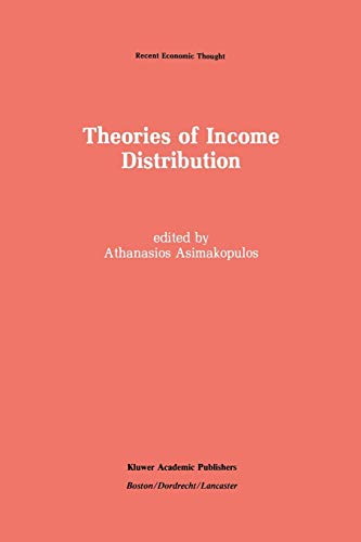 Theories of Income Distribution (Recent Economic Thought): Athanasios Asimakopulos