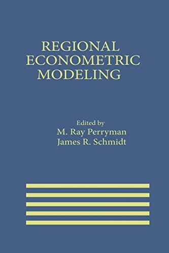 9789401079662: Regional Econometric Modeling (International Series in Economic Modelling)