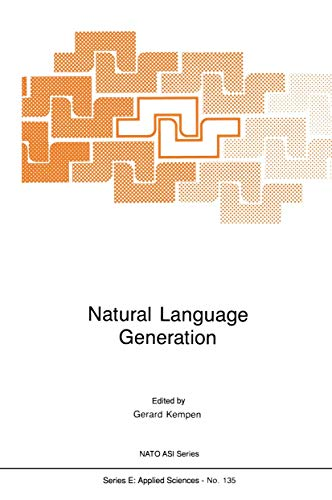 9789401081313: Natural Language Generation: New Results in Artificial Intelligence, Psychology and Linguistics (Nato Science Series E:)