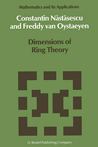 9789401082075: Dimensions of Ring Theory (Mathematics and Its Applications)