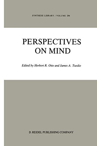 9789401082907: Perspectives on Mind (Synthese Library) (Volume 194)