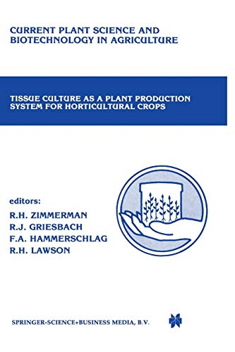 9789401084772: Tissue culture as a plant production system for horticultural crops: Conference on Tissue Culture as a Plant Production System for Horticultural ... Science and Biotechnology in Agriculture)