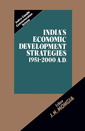 9789401085502: India's Economic Development Strategies 1951–2000 A.D.