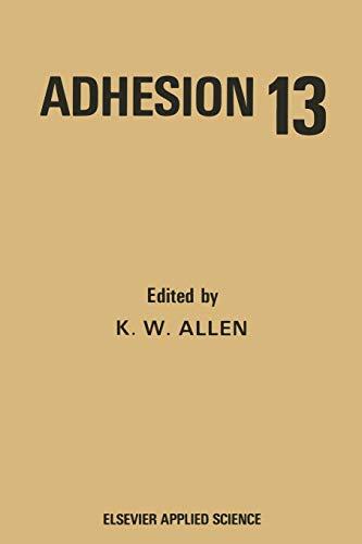 9789401090841: Adhesion 13