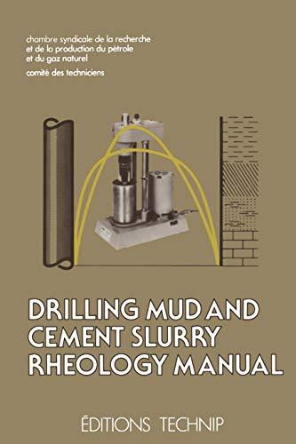 9789401092487: Drilling Mud and Cement Slurry Rheology Manual: Publication de la Chambre Syndicale de la Recherche et de la Production du Pétrole et du Gaz Naturel