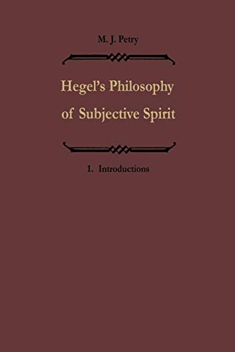 9789401093736: 1: Hegels Philosophie des subjektiven Geistes / Hegel's Philosophy of Subjective Spirit: Band I / Volume I (Volume 1)