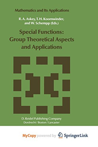 9789401097888: Special Functions: Group Theoretical Aspects and Applications