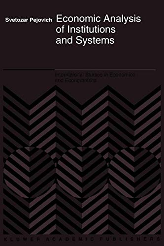 9789401164856: Economic Analysis of Institutions and Systems