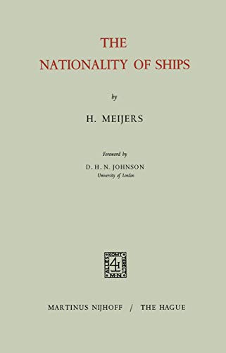 9789401186933: The Nationality of Ships