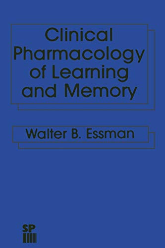 9789401196604: Clinical Pharmacology of Learning and Memory