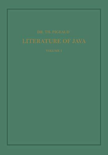 9789401502382: Synopsis of Javanese Literature 900–1900 A.D. (Koninklijk Instituut voor Taal-, Land- en Volkenkunde)