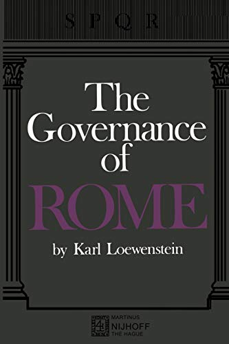 9789401503785: The Governance of ROME