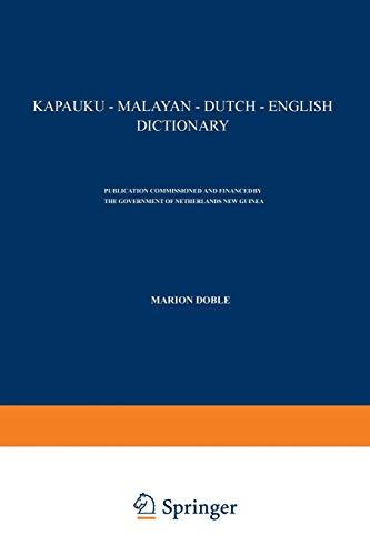Kapauku-Malayan-Dutch-English Dictionary (English and Dutch Edition): Doble, Marion