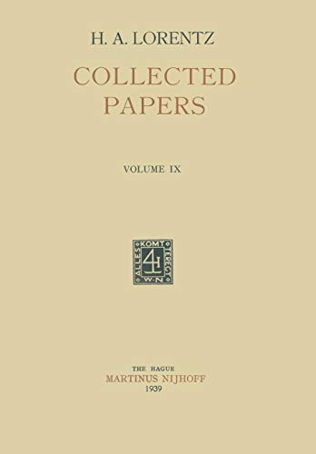 9789401522137: Collected Papers: Volume IX
