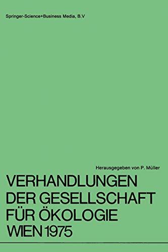 Verhandlungen der Gesellschaft für Ökologie Wien 1975: G. Spatz; Ute